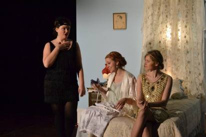 Margaret teasing Beatrice about falling in love while Hero prepares for her wedding.